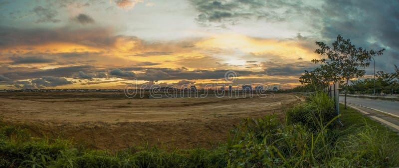 Por do sol Malásia fotos de stock