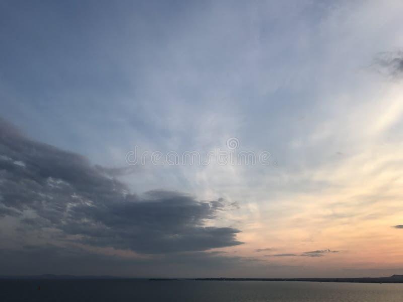 Por do sol do Mar Negro imagens de stock