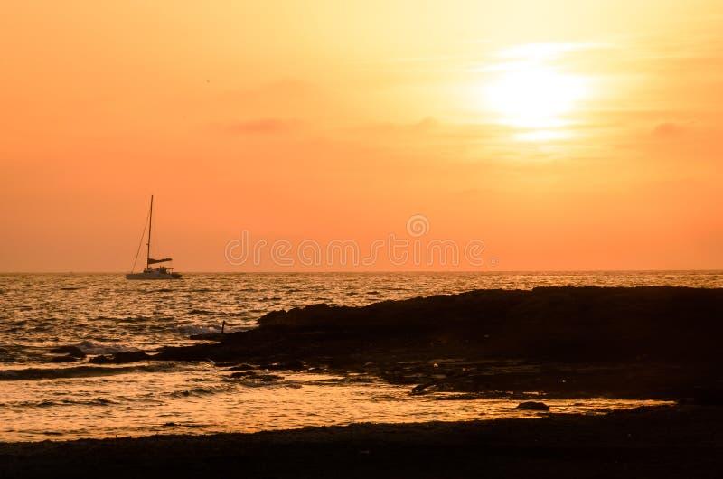 Por do sol mediterrâneo imagem de stock royalty free