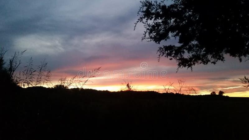 Por do sol misturado fotografia de stock royalty free