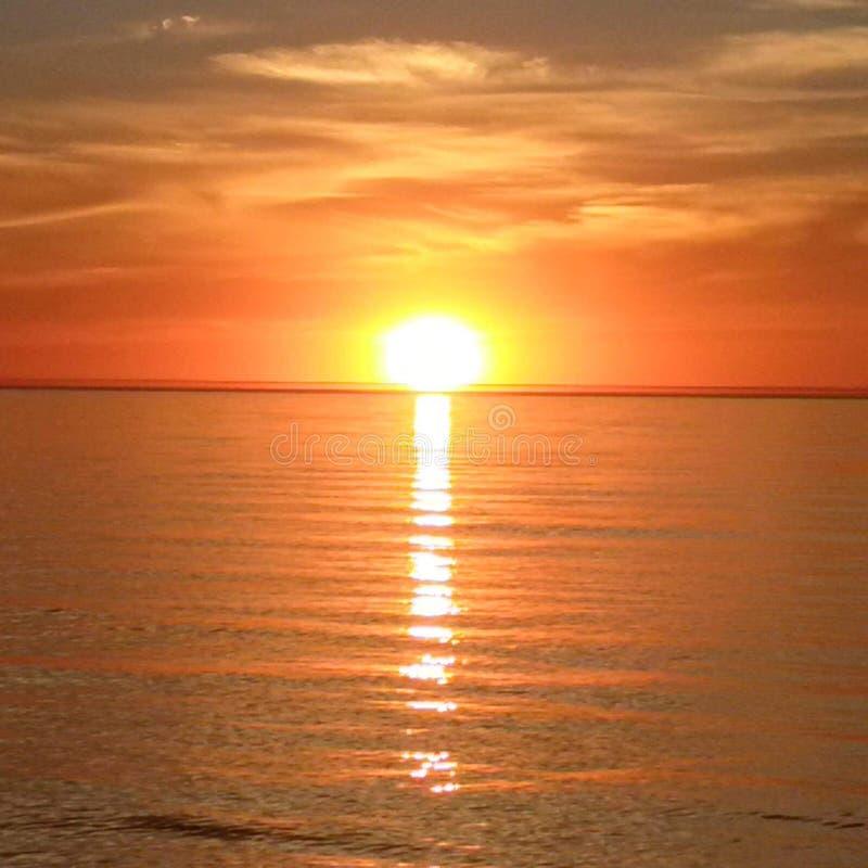 Por do sol morno fotos de stock