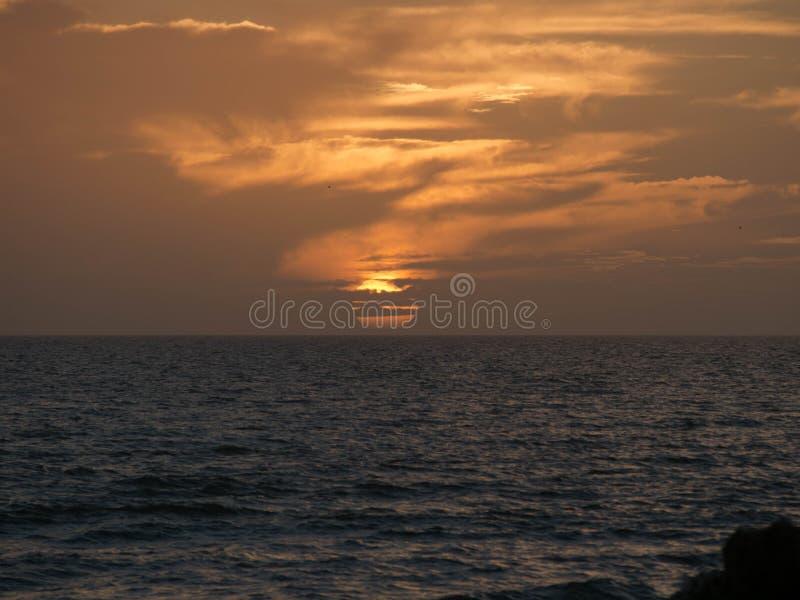 Por do sol na ilha de Sanibel imagem de stock royalty free