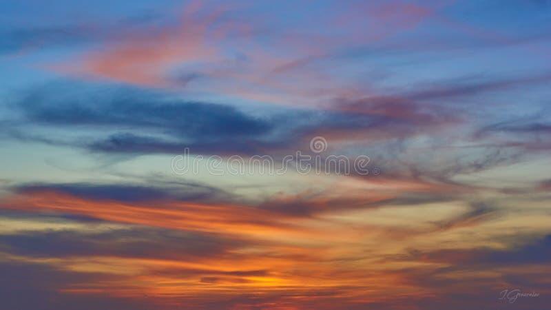 Por do sol no alifornia do ¡ de Ð, San Diego fotografia de stock