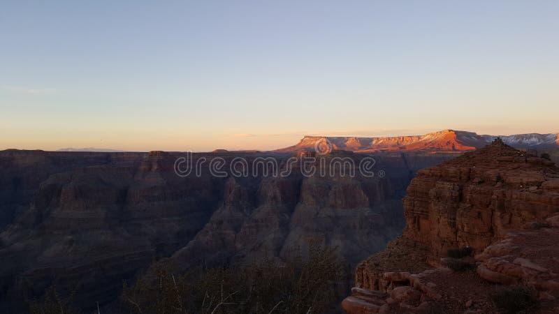 Por do sol no Arizona imagens de stock