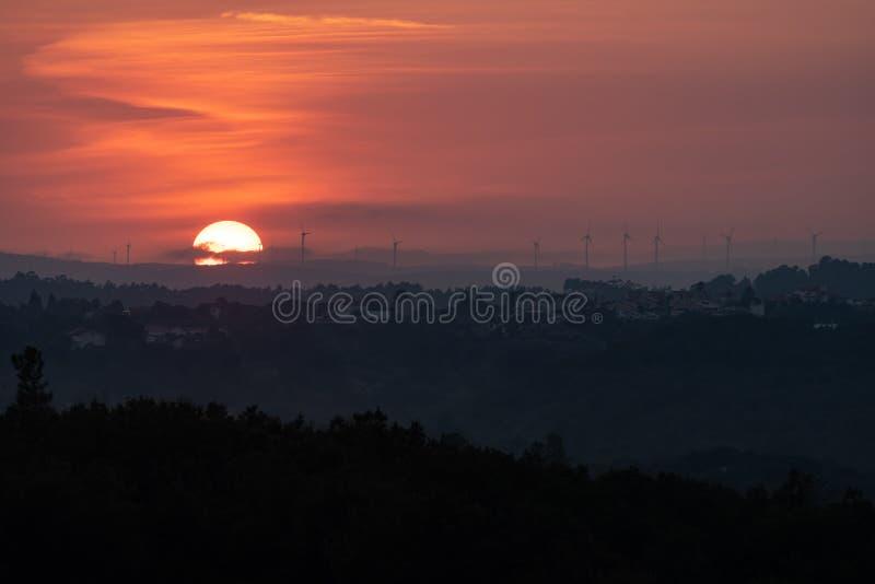 Por do sol no campo, Tomar Portugal fotos de stock