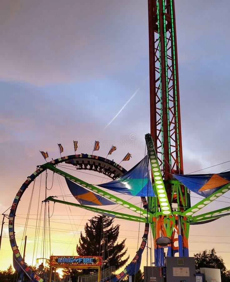 Por do sol no carnaval foto de stock