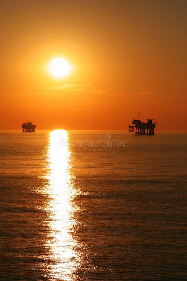 Por do sol no golfo fotos de stock royalty free