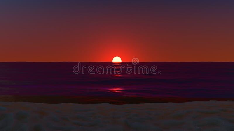 Por do sol no horizonte imagem de stock