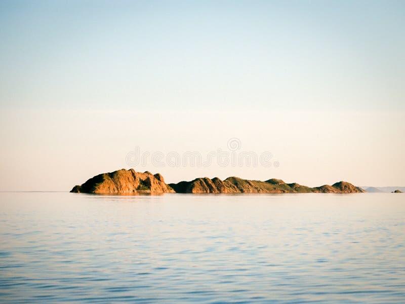 Por do sol no lago Argyle imagens de stock