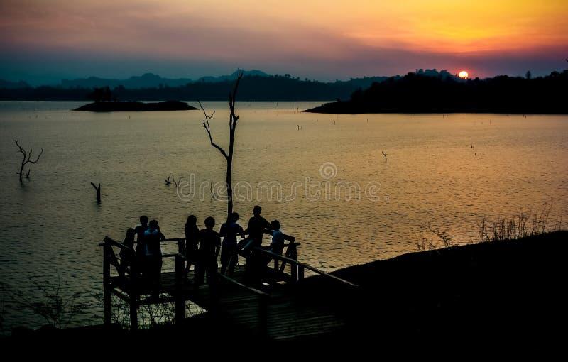Download Por do sol no lago foto de stock. Imagem de nave, ripple - 29838600