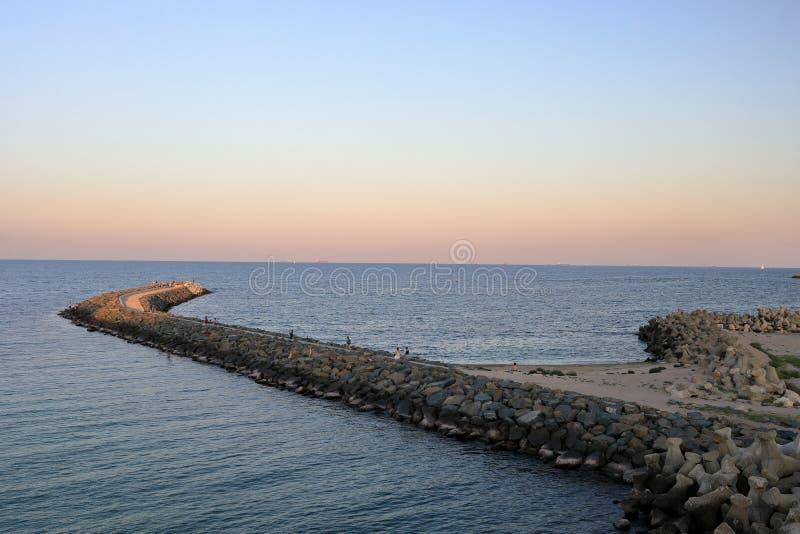 Por do sol no Mar Negro fotografia de stock