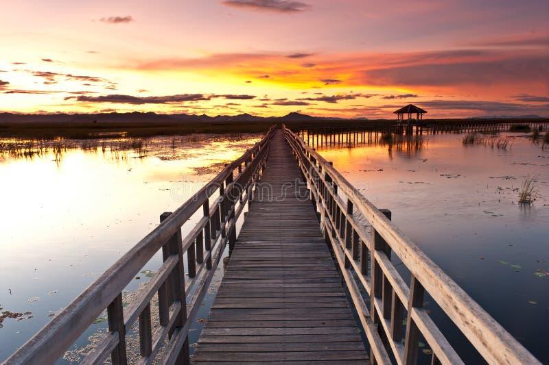Por do sol no parque nacional Tailândia do roi Yod de Sam foto de stock royalty free