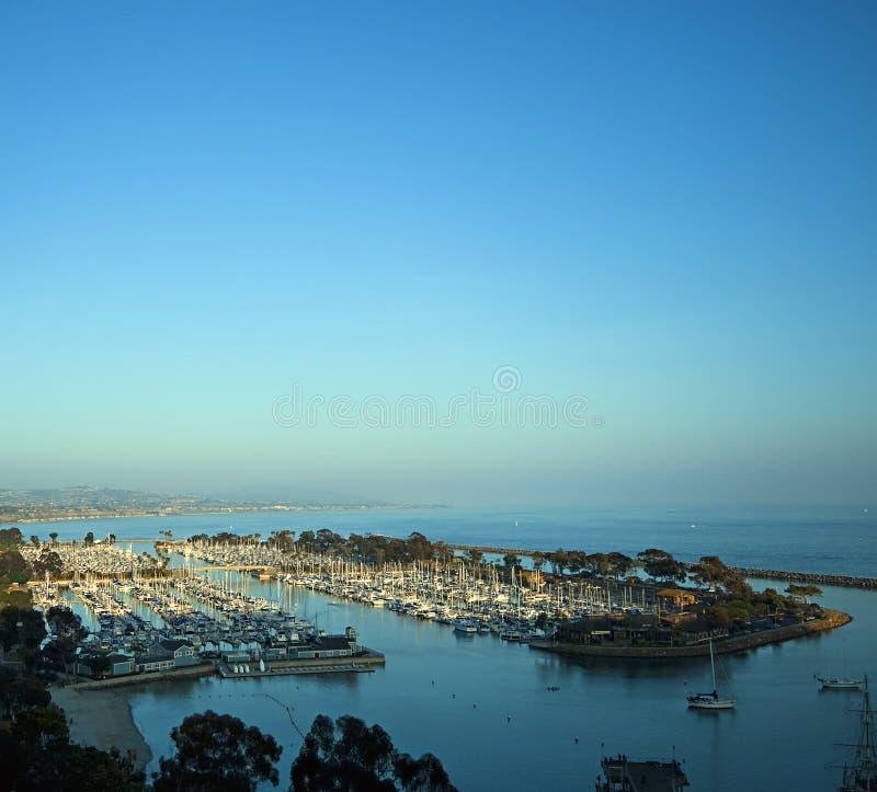Por do sol no porto de Dana Point foto de stock royalty free