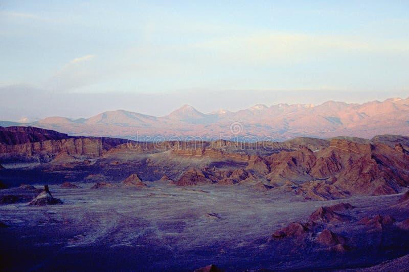 Por do sol no vale da lua fotografia de stock