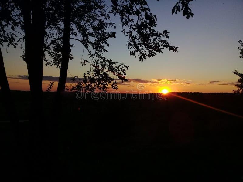 por do sol, noite, o sol, céu foto de stock