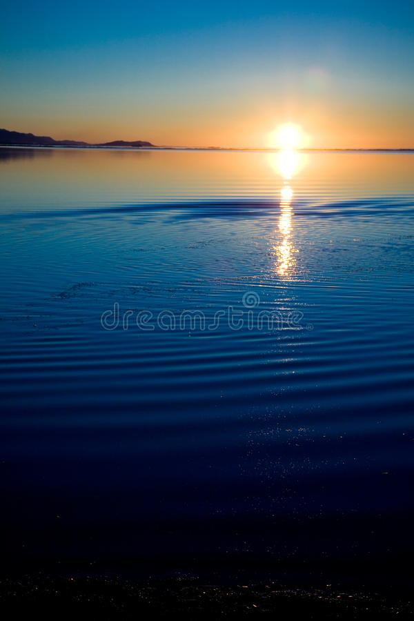Por do sol noroeste pacífico fotografia de stock royalty free