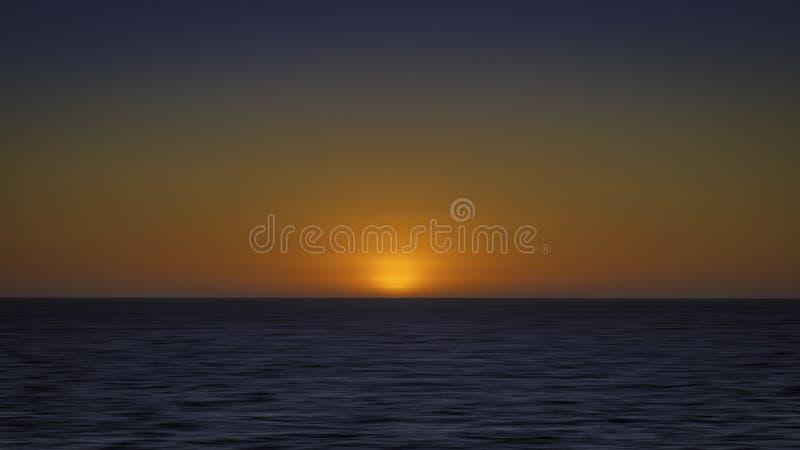 Por do sol do Oceano Índico imagem de stock royalty free