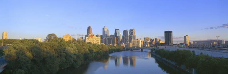 Por do sol, Philadelphfia, Pensilvânia fotos de stock royalty free