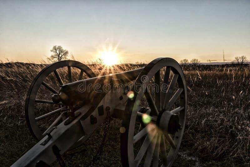 Por do sol poderoso fotografia de stock
