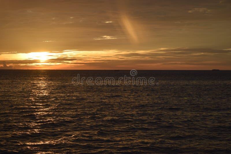 Por do sol primeiramente em Taplau fotografia de stock royalty free