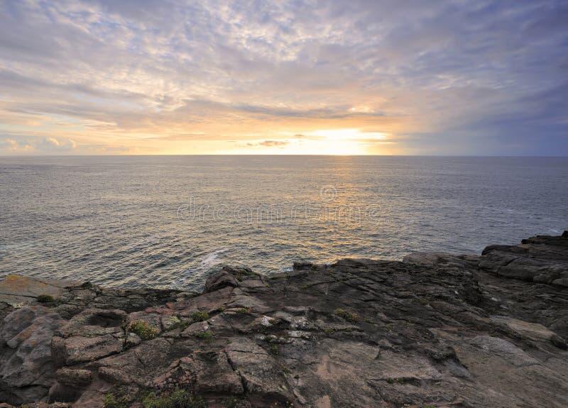 Por do sol principal do Kerry foto de stock