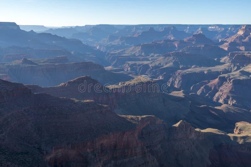 Por do sol Rim Grand Canyon sul, o Arizona imagens de stock royalty free