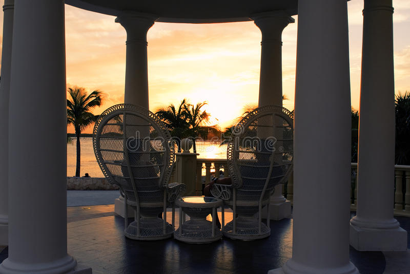 Por do sol romântico fotos de stock royalty free