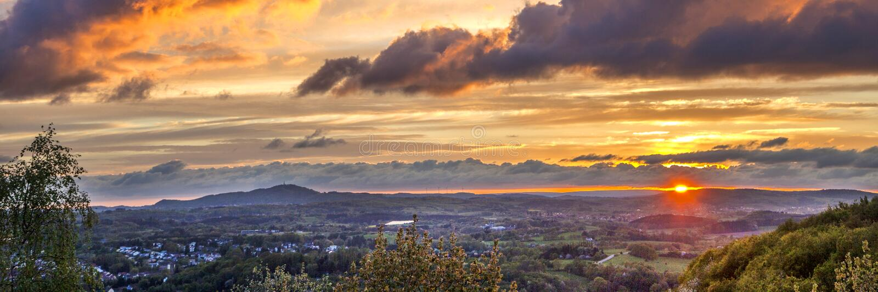Por do sol romântico em Sankt Wendel fotografia de stock royalty free