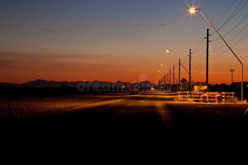 Por do sol rural do Arizona imagem de stock royalty free