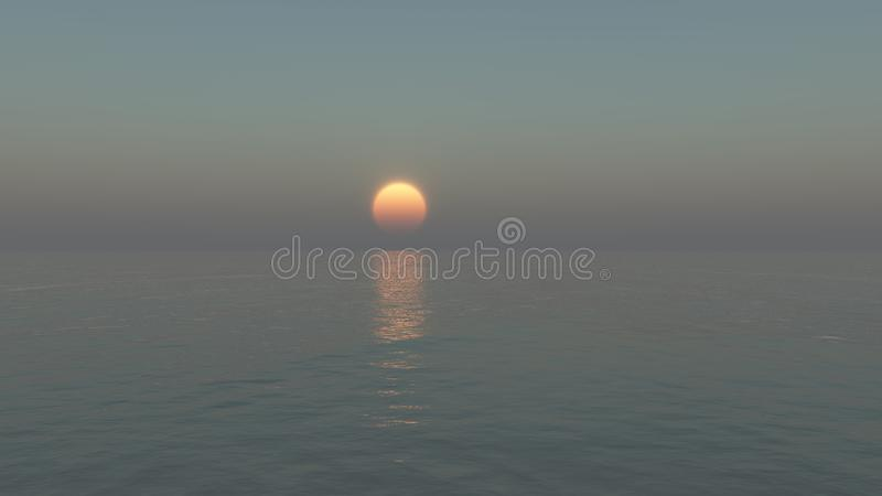 Ajuste calmo do sol fotografia de stock royalty free