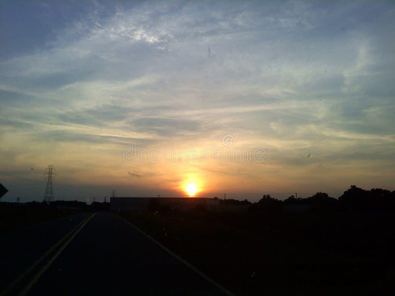 Por do sol sobre Burlington foto de stock