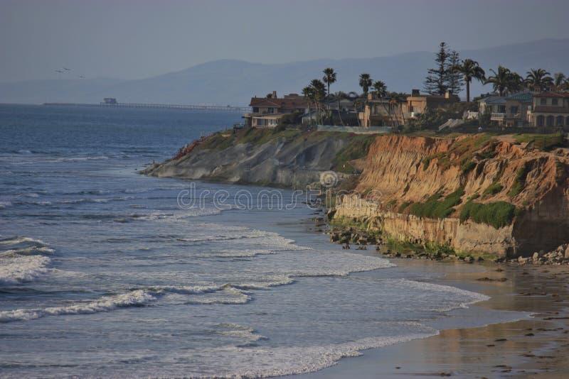 Por do sol sobre Califórnia fotos de stock royalty free