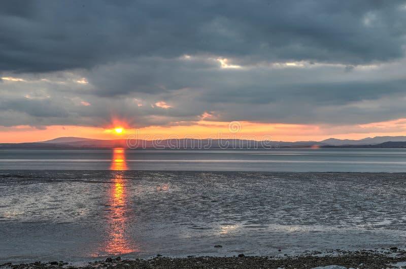 Por do sol sobre Cumbria imagem de stock royalty free