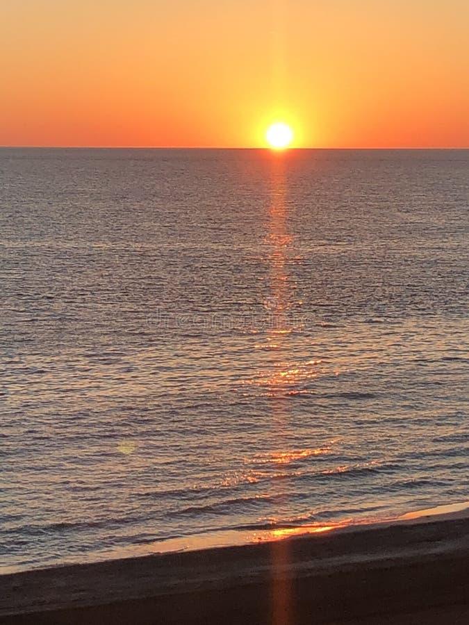 Por do sol sobre o cabo San Blas fotografia de stock royalty free