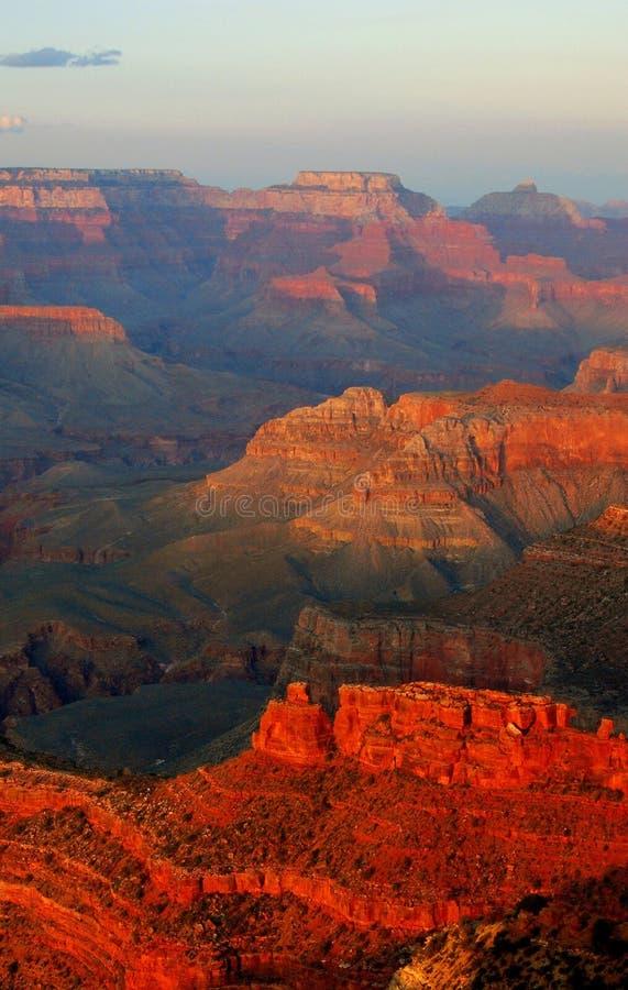 Por do sol sobre o ponto do Hopi foto de stock royalty free