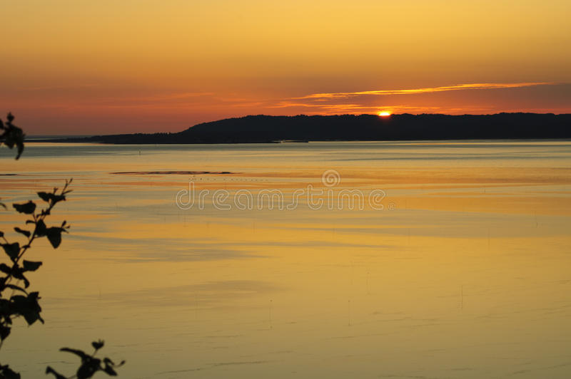 Por do sol sobre o rio de Palouse fotografia de stock royalty free