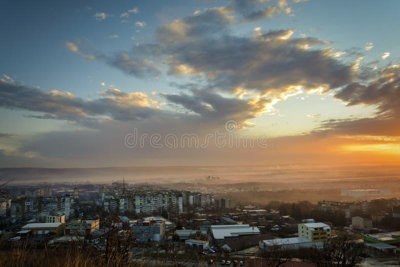 Por do sol sobre Varna imagens de stock royalty free