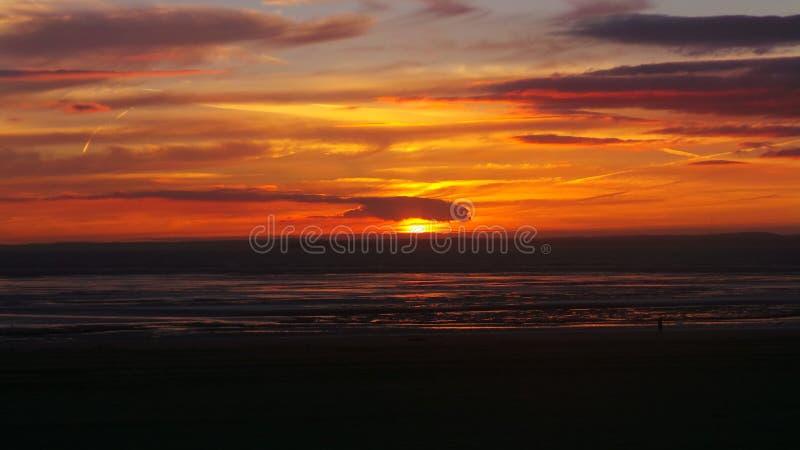 Por do sol super da égua de Weston fotografia de stock royalty free