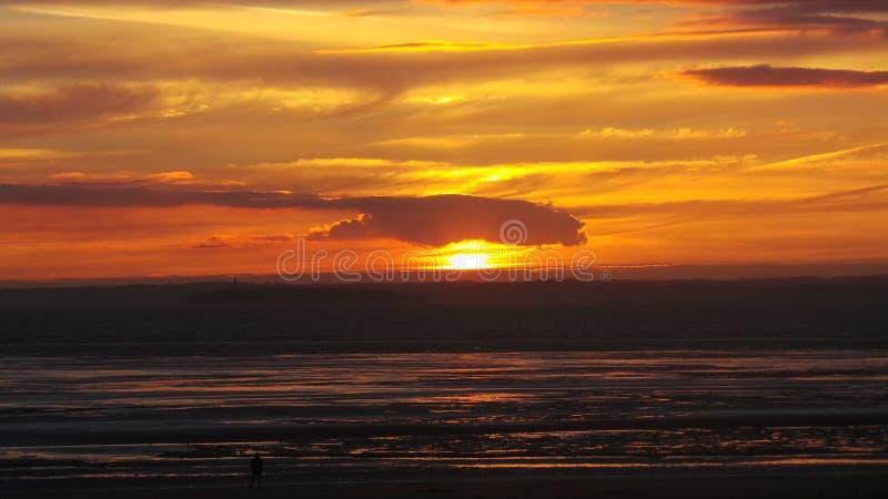 Por do sol super da égua de Weston fotos de stock