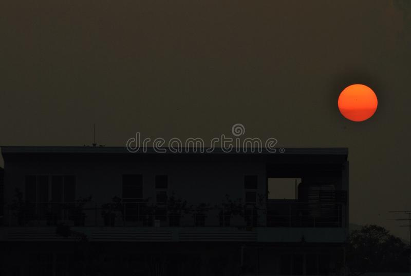 Por do sol surpreendente fotografia de stock royalty free