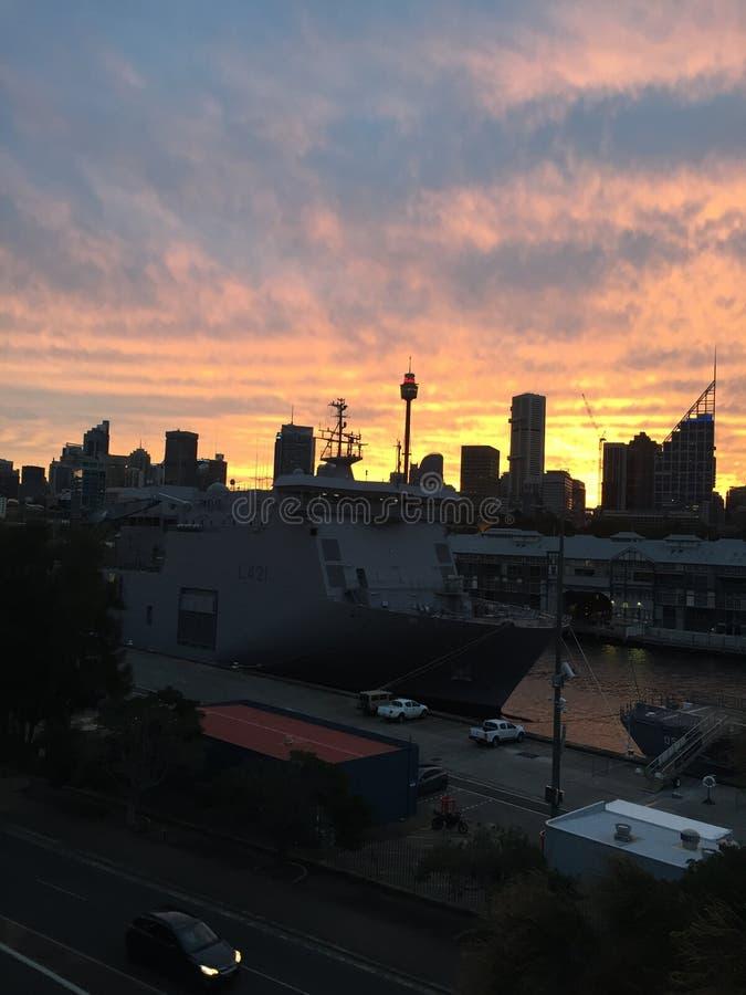 Por do sol Sydney foto de stock royalty free