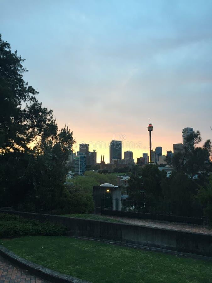 Por do sol Sydney fotografia de stock royalty free