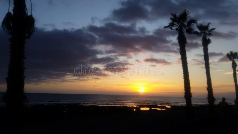 Por do sol Tenerife imagens de stock