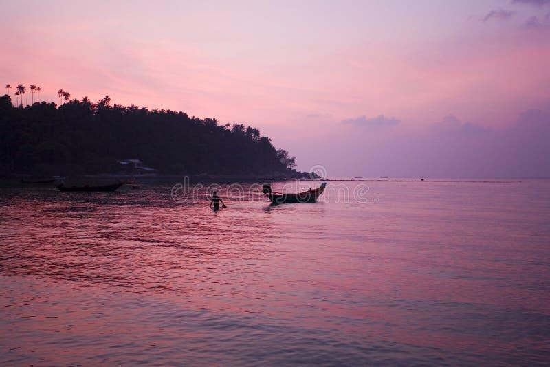 Por do sol tropical Tailândia fotos de stock