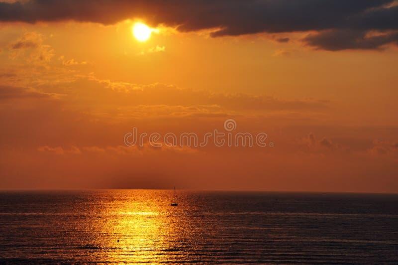 Por do sol Valência imagens de stock