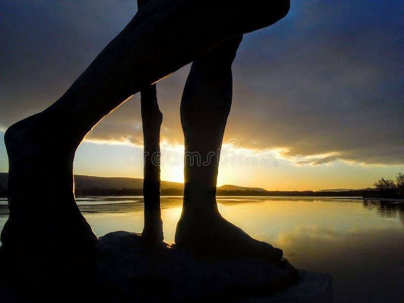 Por do sol velho do lago tata imagem de stock royalty free