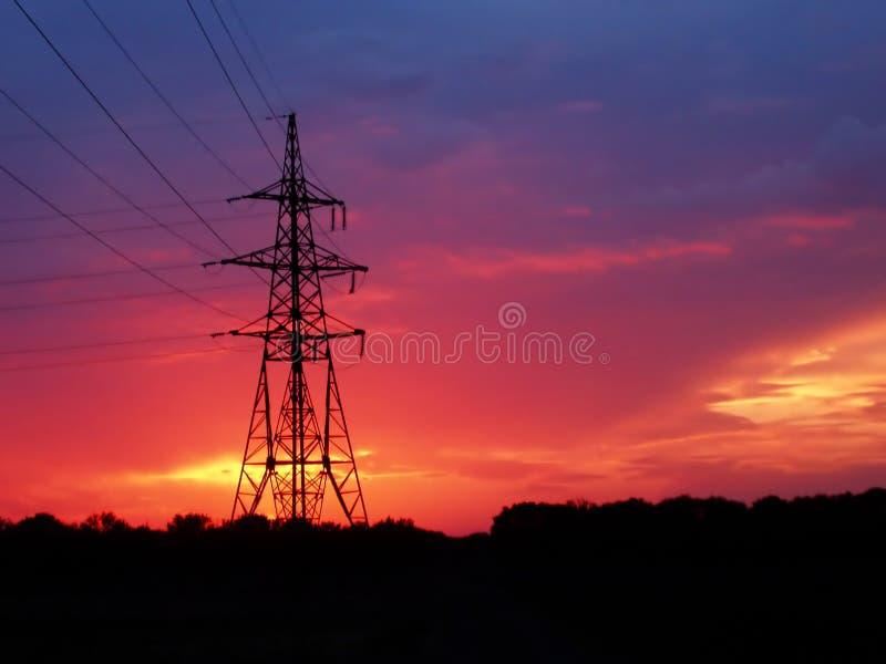 Por do sol vermelho fotos de stock