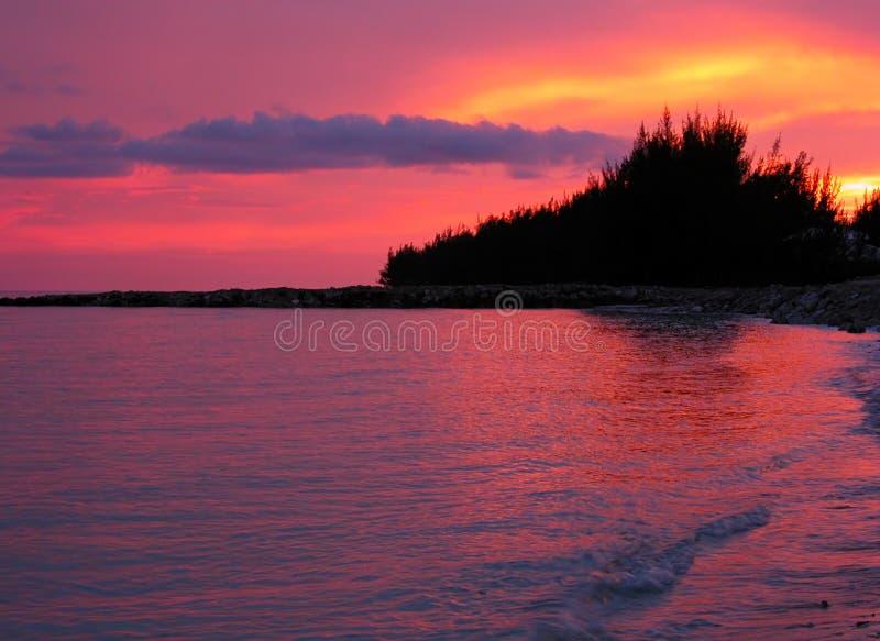 Download Por do sol vermelho imagem de stock. Imagem de bahamas, innocence - 52715