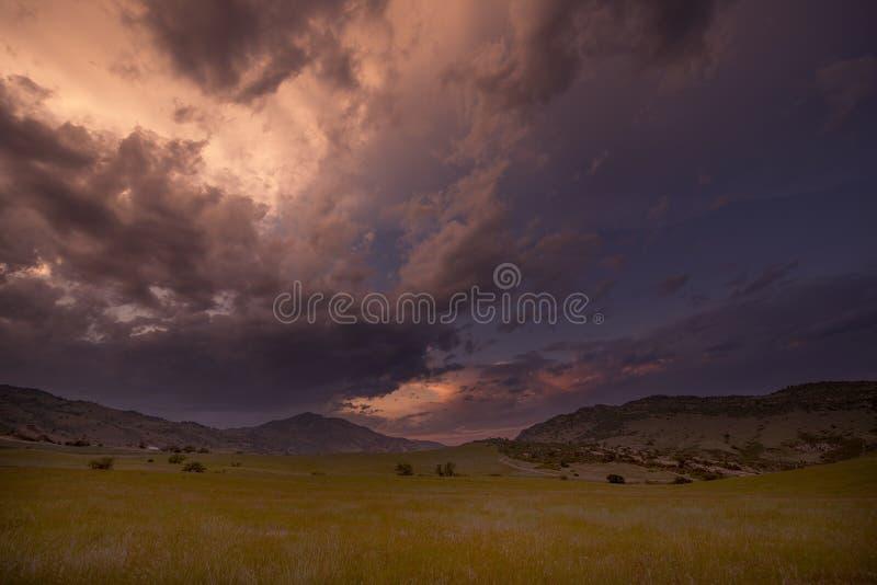 Por do sol vermelho Colorado da rocha fotografia de stock