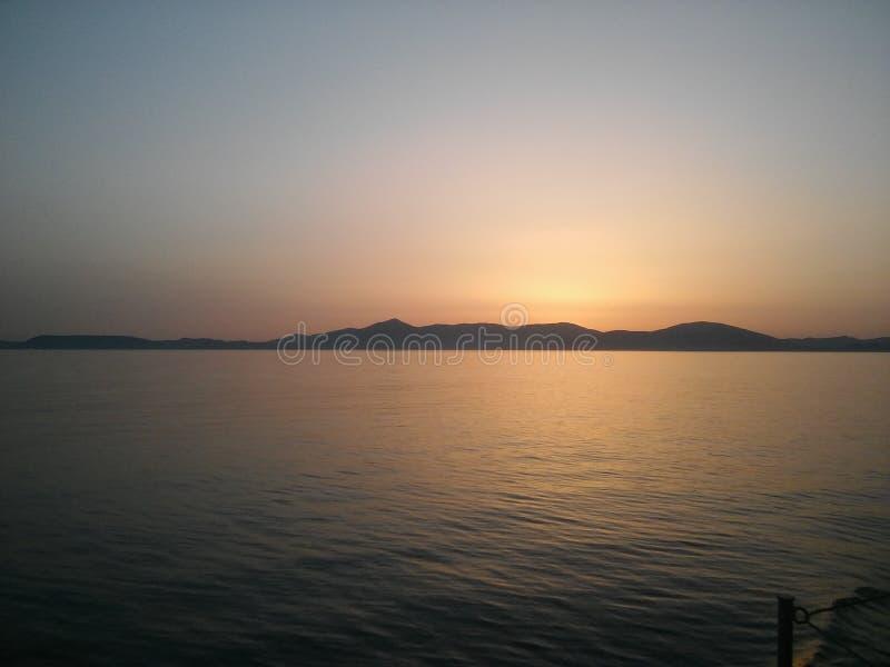 Por do sol Xios foto de stock royalty free
